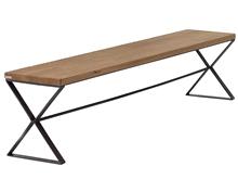 Banqueta - banco metálico con asiento de madera