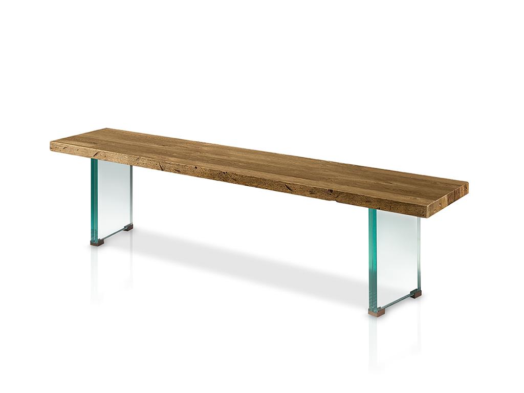 Banco para mesa de comedor con patas de cristal - Patas para mesa de cristal ...