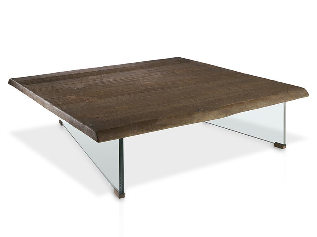 Mesa de centro con patas de cristal - Patas para mesa de centro ...
