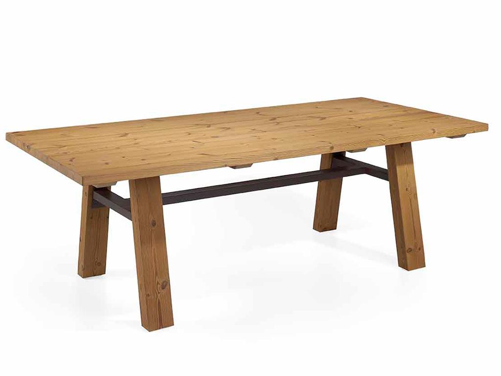 mesa de comedor para exterior madera termofusionada