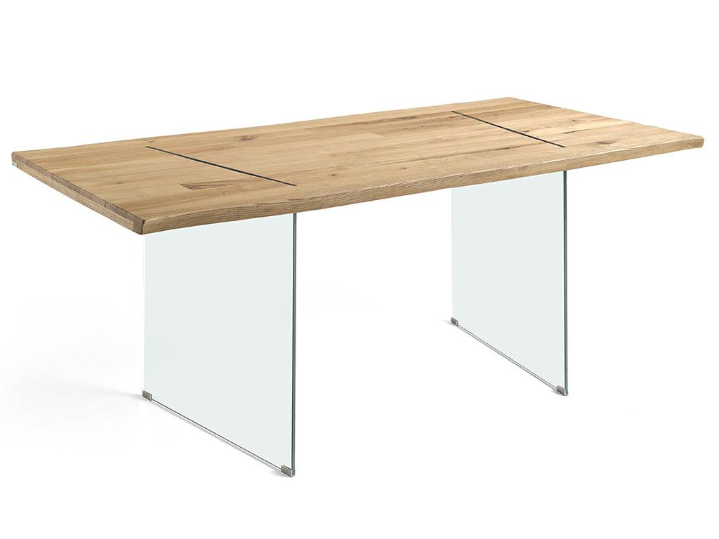 Mesa comedor madera y cristal mesa comedor extensible x for Mesa comedor madera cristal