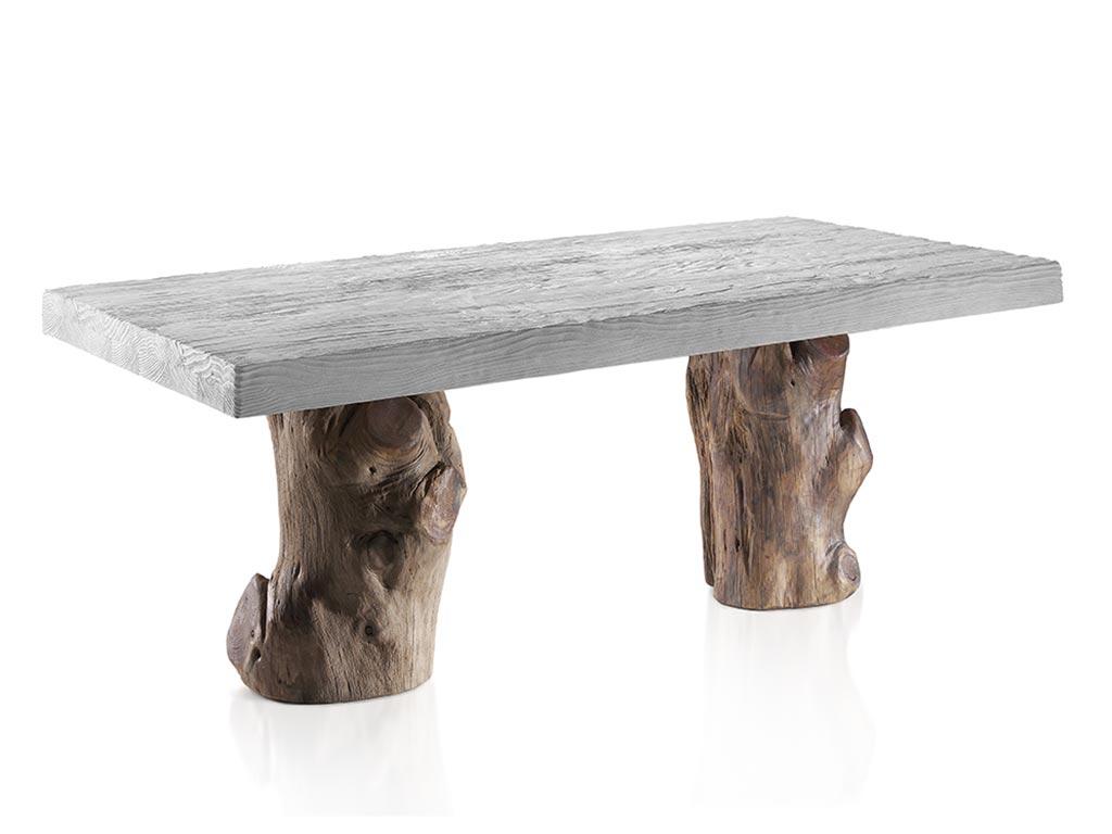 Mesas de comedor pies de tronco a medida for Mesa de tronco