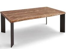 Mesa comedor de fresno con textura flecha y patas P-10