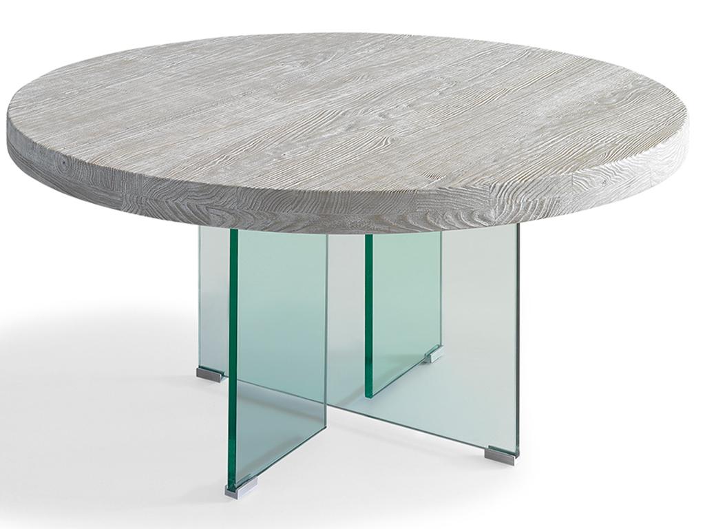 Mesa redonda cristal comedor elegant mesa moderna de - Mesa redonda cristal ikea ...