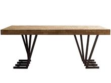Mesa comedor fresno personalizable con patas P-6