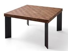 Mesa comedor de fresno con textura trenza y patas P-10