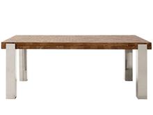 Mesa comedor de fresno y textura trenza con patas P-11