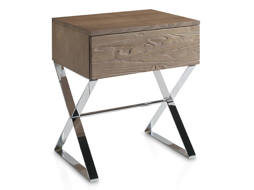 Mesitas de noche evolucion en madera de mobila y fresno for Mesas de centro metalicas