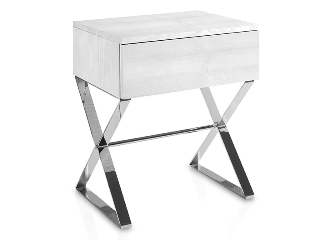 Mesitas de noche con patas metalicas en madera mdf - Patas metalicas para mesas ...
