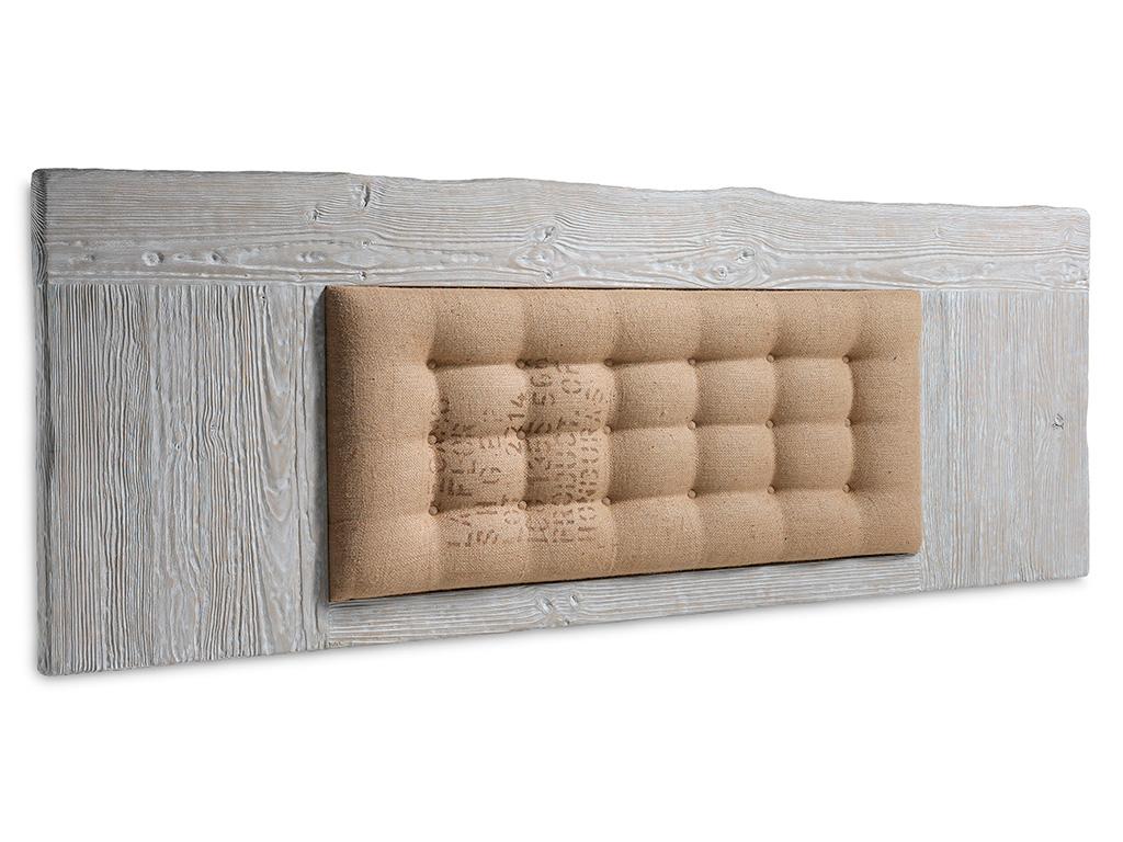 Cabecero de cama en madera y tapizado plafon interior for Lamparas cabezal cama