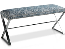 Suspirarte Metal Bench Upholstered with Fabric T-494