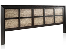 Karey Long Headboard With Leather