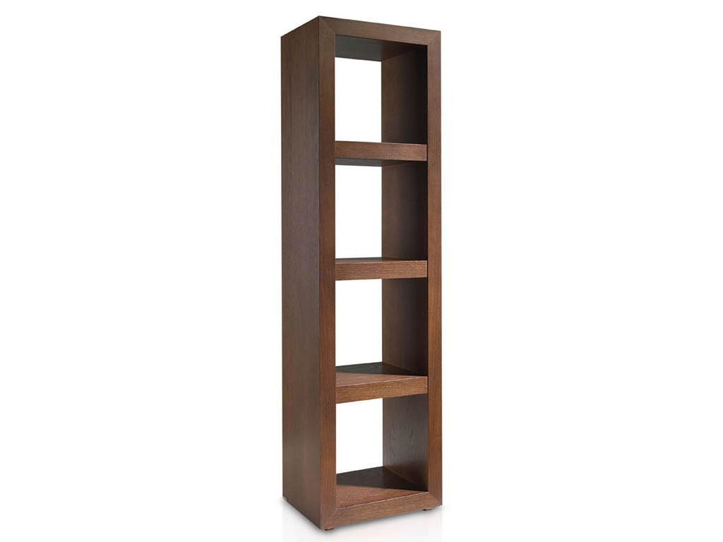 Estanterias estrechas roble suspirarte - Estanterias modulares madera ...