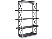 Suspirarte Metal Bookcase with Cross-Shaped Uprights