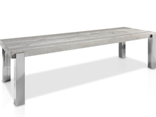 Evolución Dining Table with Four Metal Legs