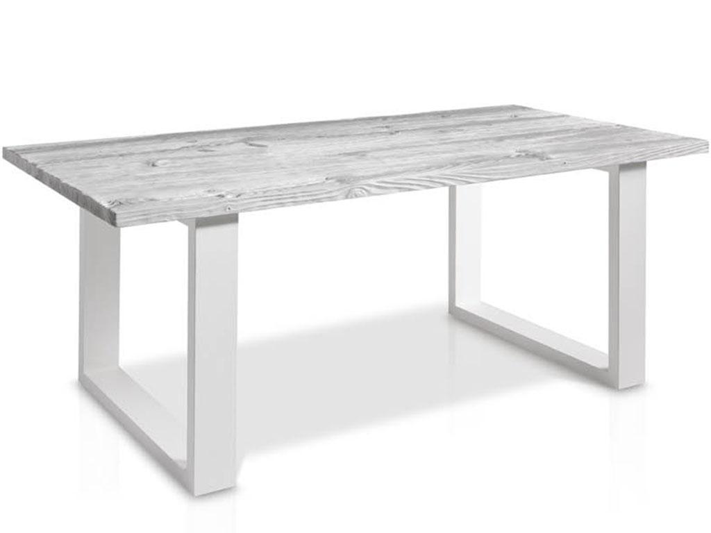 Mesa de comedor con la tapa de cristal y patas con forma - Patas para mesas ...