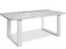 Evolución Dining Table With Glass And Square Legs