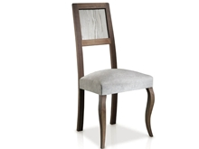 Evolución Upholstered Chair with Elizabethan-style Legs and Eroded Back  T-475