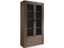 Suspirarte 100 cm Oak Glass Cabinet