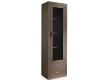 Suspirarte 56 cm Oak Glass Cabinet