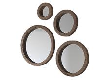 Conjunto de 4 espejos circulares