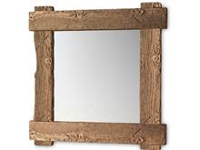 Espejo reciclado ecológico entrelazado