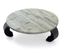 Round coffee table with legs opium inverted