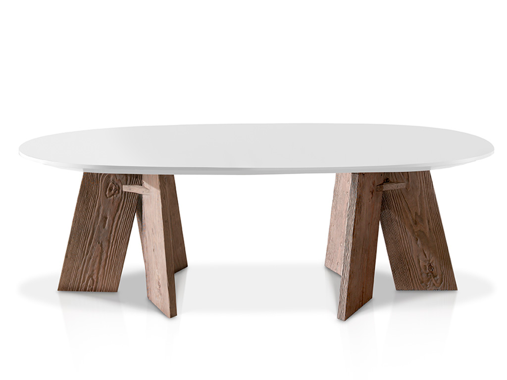 mesa comedor ovalada