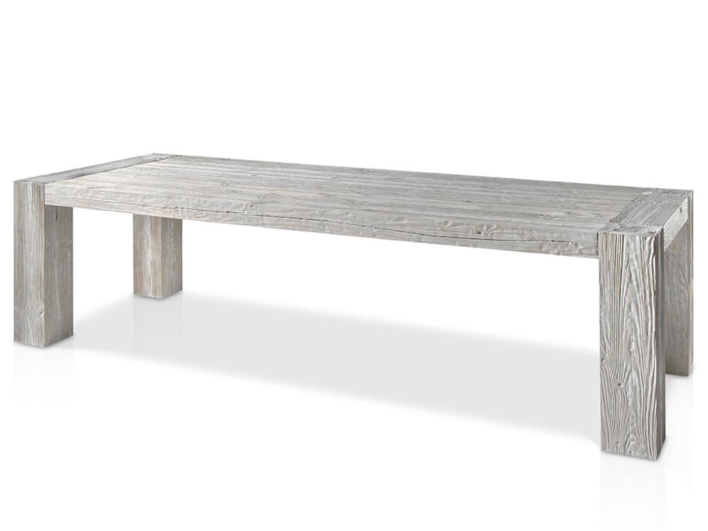 Mesa de comedor con patas de madera macizas for Mesas de comedor grandes de madera
