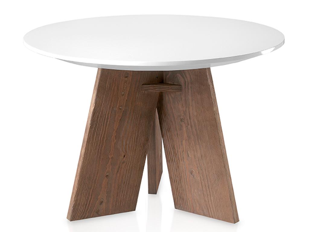 Mesa de comedor redonda con perfil bisel for Comedor mesa redonda