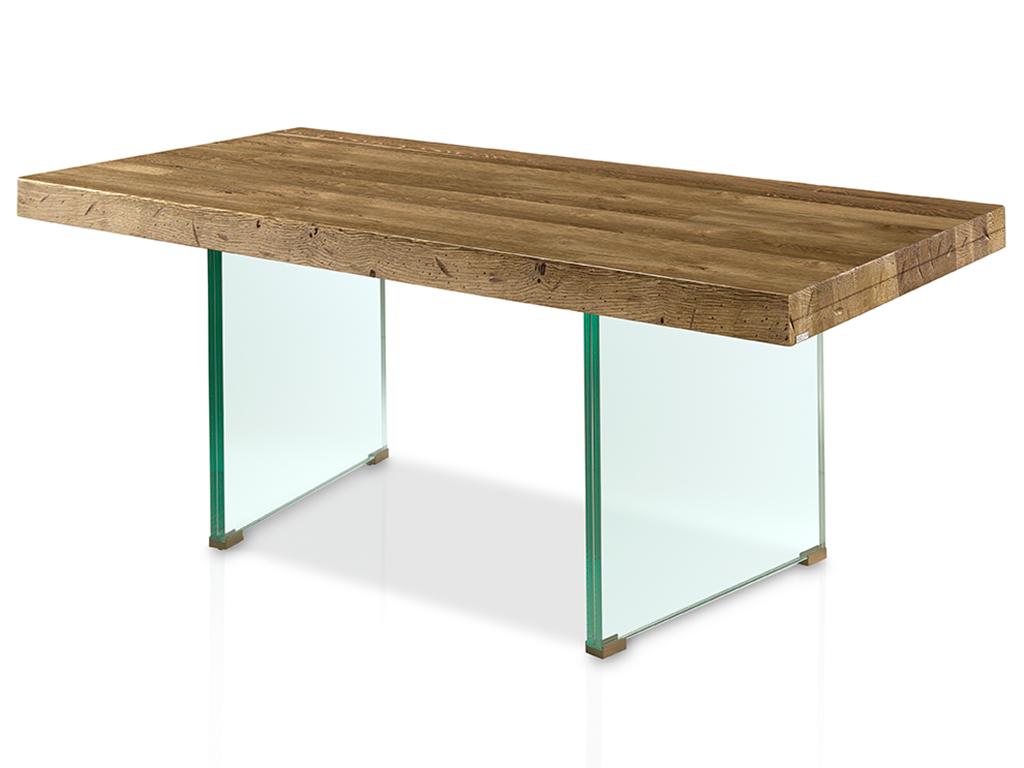 Mesas de comedor: especial patas de cristal