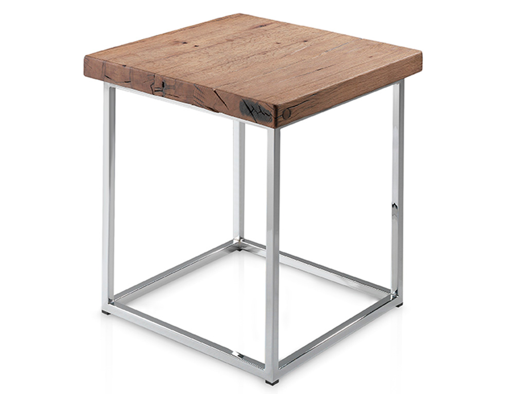 Mesa rinc n con perfil recto y patas met licas for Patas de hierro para mesas