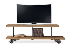 Mueble TV estilo industrial con ruedas