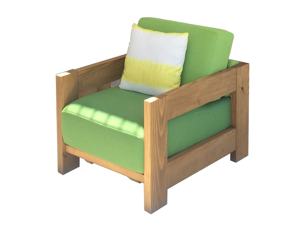 Sillon exterior para madera termofusionada for Sillon madera exterior