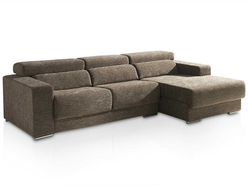 Sofa 2 plazas con chaise longue for Sofa con chaise longue