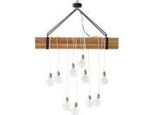 Lámpara de madera y metal